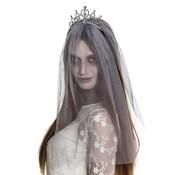 Goedkope zombie bruidssluier diadeem