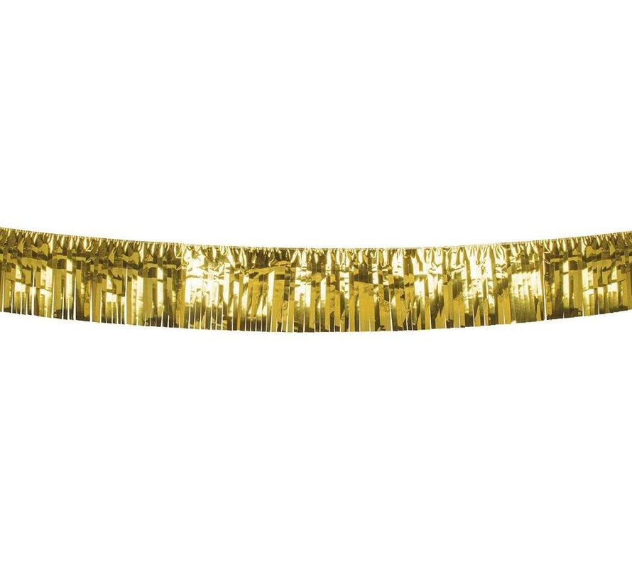 Metallic goudkleurige franje slinger