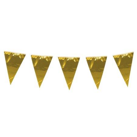 Grote goudkleurige vlaggenlijn