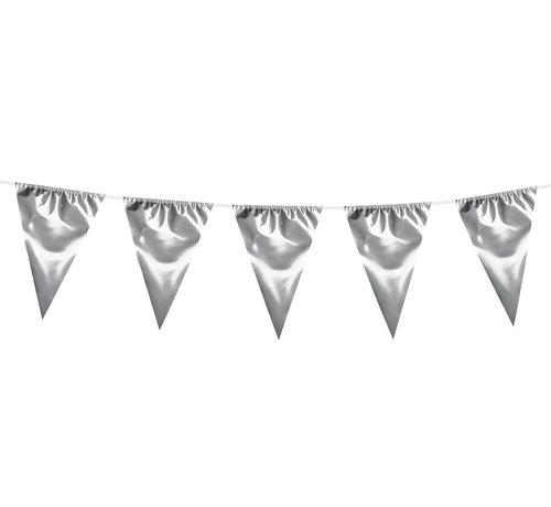 Grote zilverkleurige vlaggenlijn