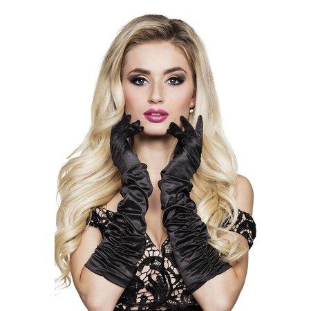 Halflange handschoenen zwart