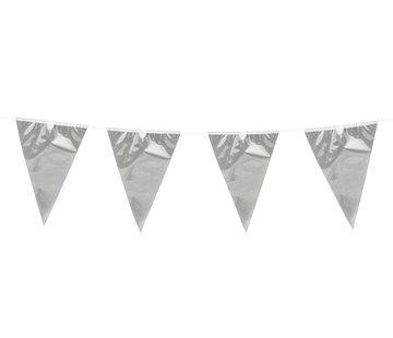 Zilverkleurige vlaggenlijn