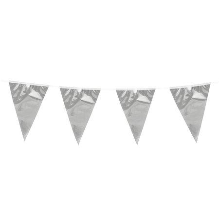 Metallic Zilverkleurige vlaggenlijn