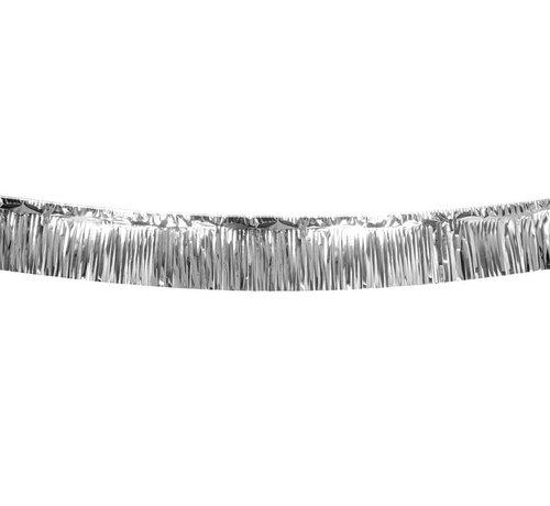 Zilverkleurige franje slinger kopen