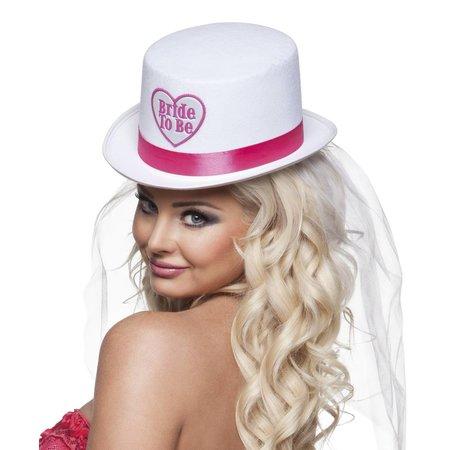 Hoed 'Bride to be' met sluier