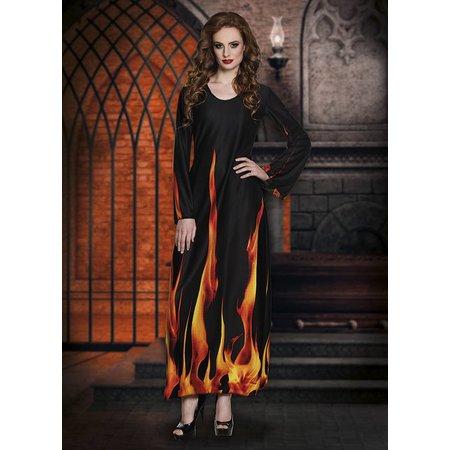 Lange vlammen jurk