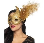 Venetiaanse masker goudkleurig