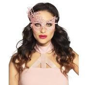 Oogmasker Masquerade roze