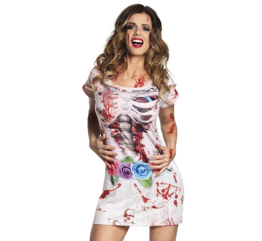 3D  horror bruidsjurk