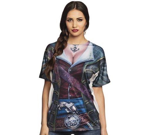 3D piratenshirt dames