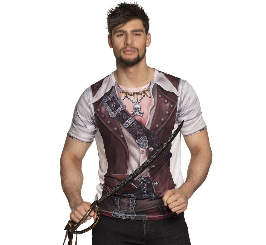 3D piratenshirt heren