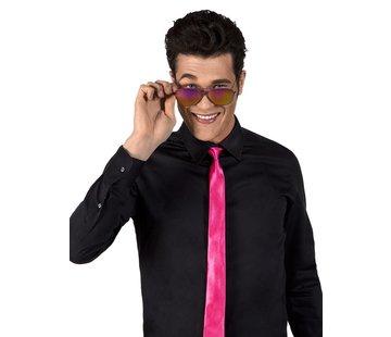 Glimmende stropdas knalroze