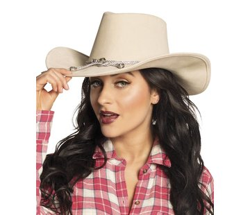Beige cowboyhoed