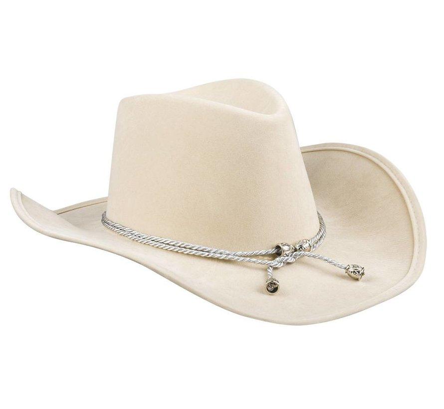 Beige cowboyhoed voor vrouwen