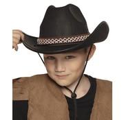 Hoed Cowboy junior zwart