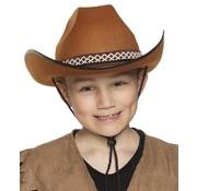 Hoed Cowboy junior bruin