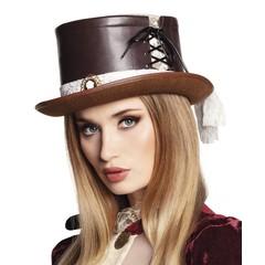 imitatie leren steampunk hoed Steambride