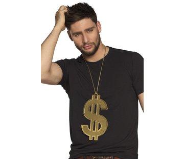 Goudkleurige dollar ketting