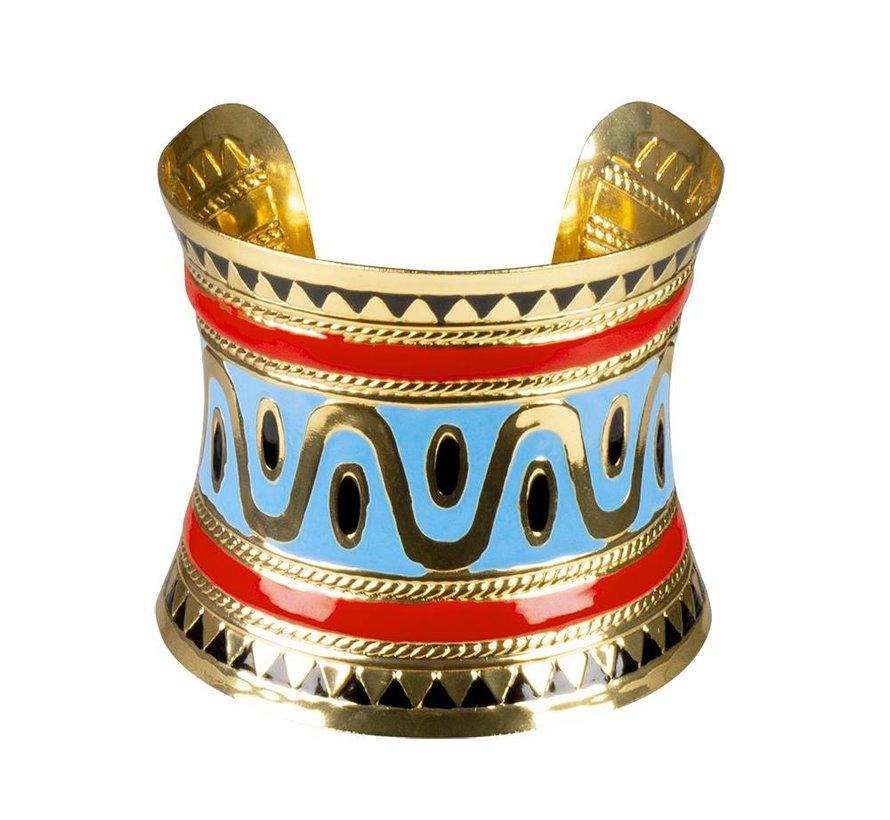 Brede Egyptische armband Cleopatra