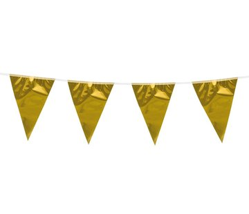 Mini vlaggenlijntje goud
