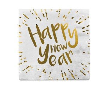 Servetten 'Happy New Year'