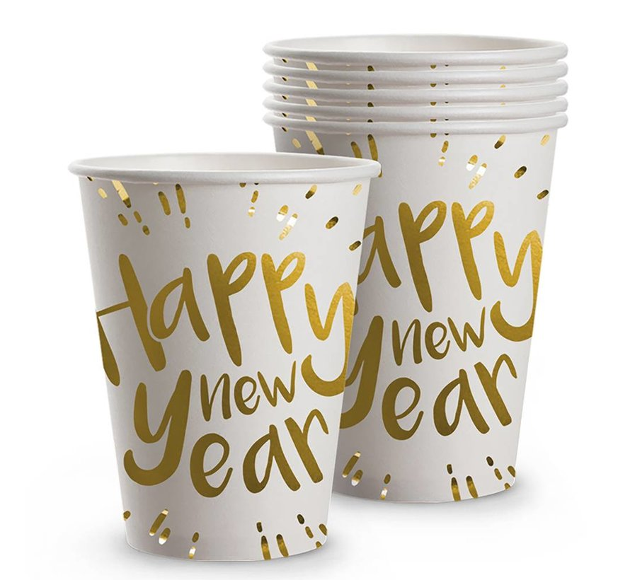 Bekertjes Happy new year wegwerpservies