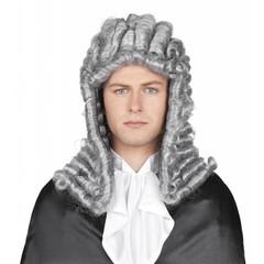 Pruik Grijs Rechter