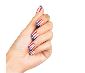 nep nagels amerikaanse vlag