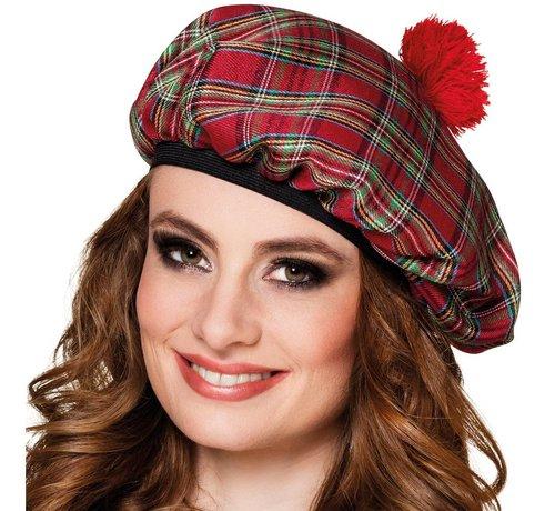 Dames schotse baret rood