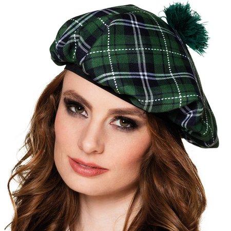 Dames schotse baret groen