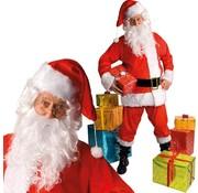 Kerstman pluche luxe
