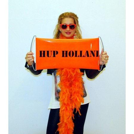 Mini roll up banner Oranje HUP HOLLAND HUP