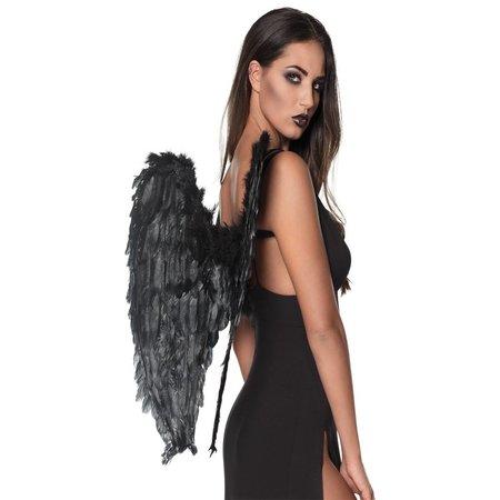 Engelenvleugels  zwart 65 x 65 cm