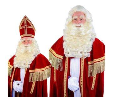 Sinterklaas baardstel buffelhaar deluxe