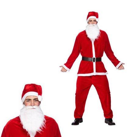 Goedkope Kerstmanpak met Baard