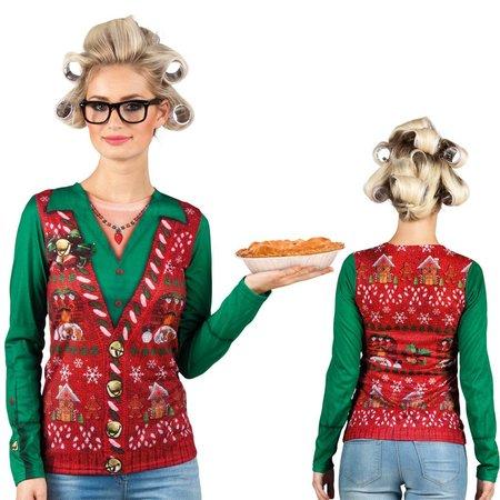 Dames Fop shirt foute kerstkleding