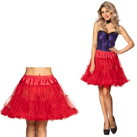 Toppers langer rode petticoat