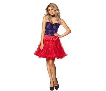 Lange rode petticoat