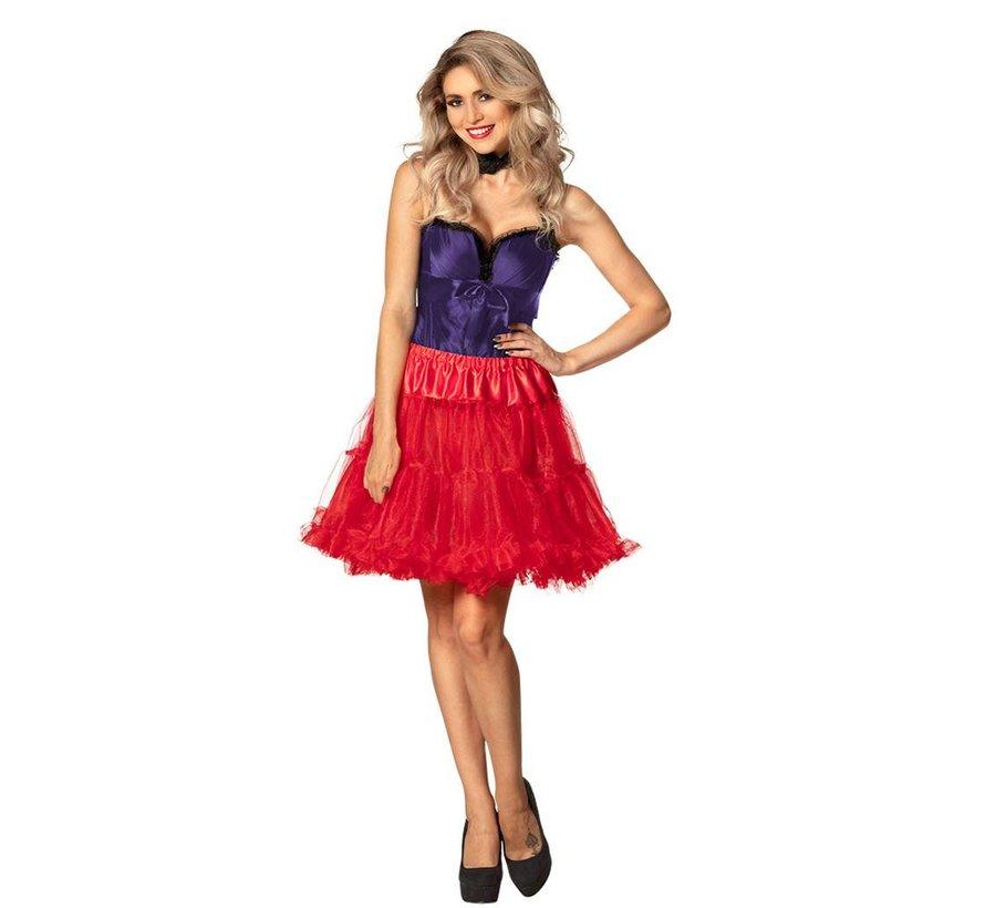 Lange rode petticoat dames