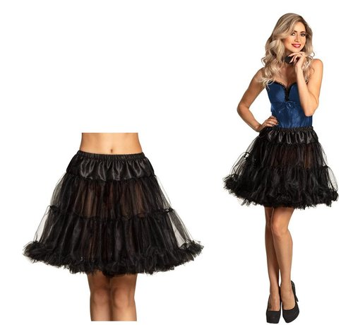 Lange Petticoat zwart