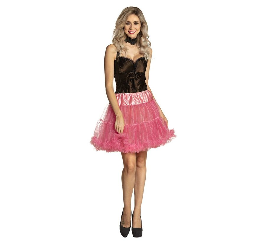 Neon roze petticoat lang