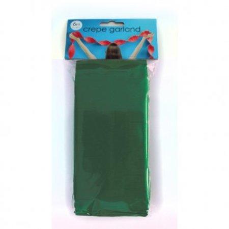 Crêpe papier slinger kerst groen