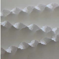 Crêpe papier slinger wit