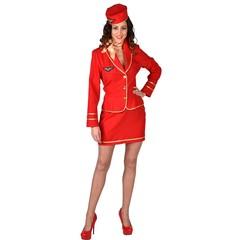 Stewardess pakje met baret