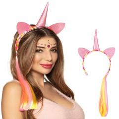 Tiara unicorn met haar