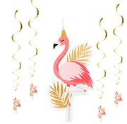 Flamingo Decoratie spiraal