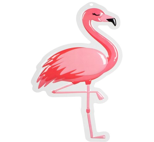 Wanddecoratie Flamingo ( brandvertragend)