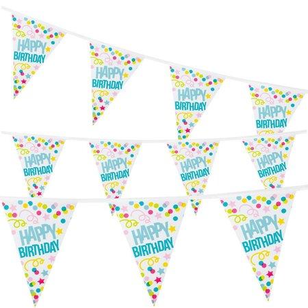 Happy Birthday vlaggenlijn slinger