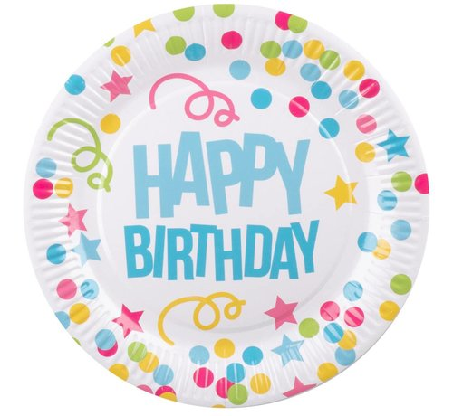 Kartonnen Happy Birthday bordjes