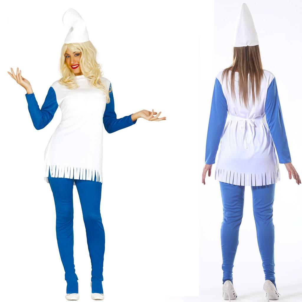 2b94b7001ce8f6 Dames smurf kostuum